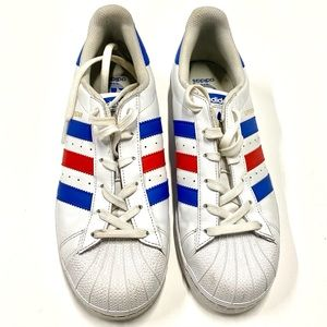 Adidas Sneakers Red White Blue Size 7